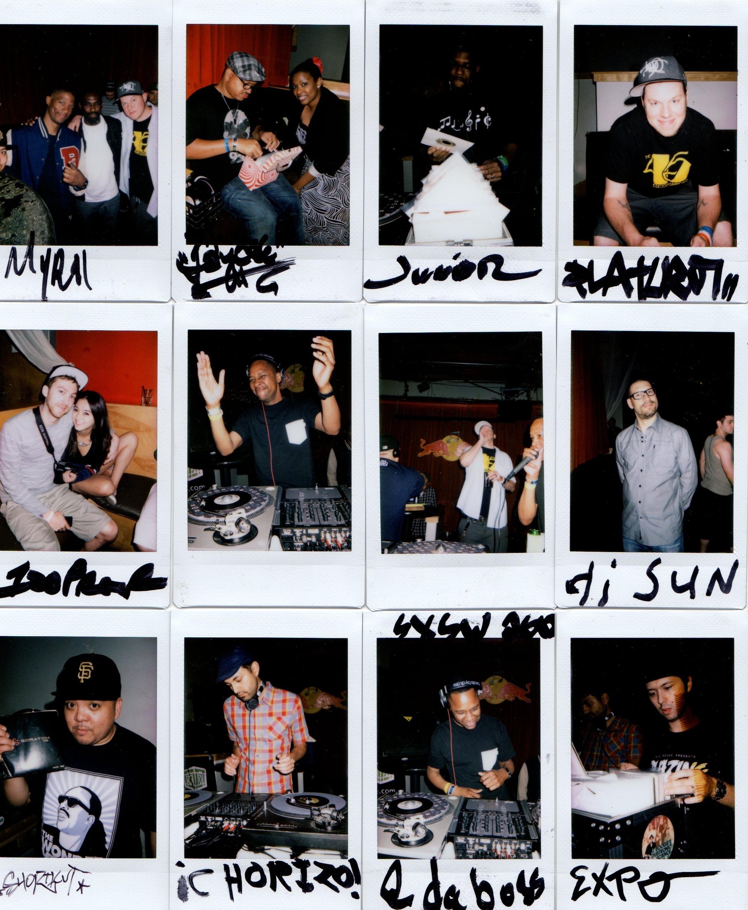 Two sevens clash sxsw 2012 polaroid collage the 45 sessions advertisements maxwellsz